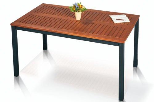 ALU Gartentisch, Eukalyptus Hartholz, 150 x 74 x 90 cm