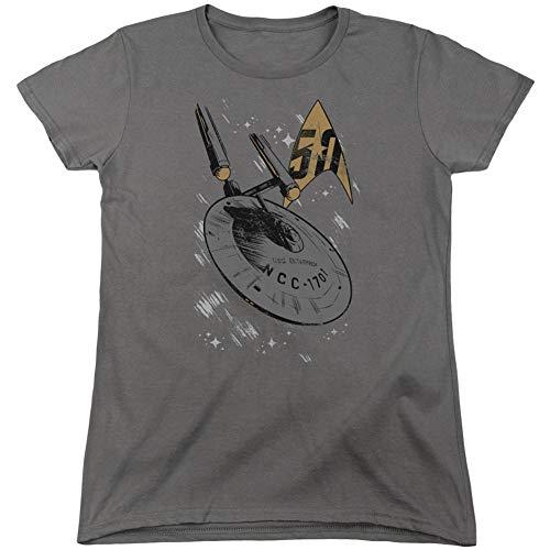Manga Gráfica Camiseta Para Opaco Trevco Mujer Corta aAx7qqRw4E