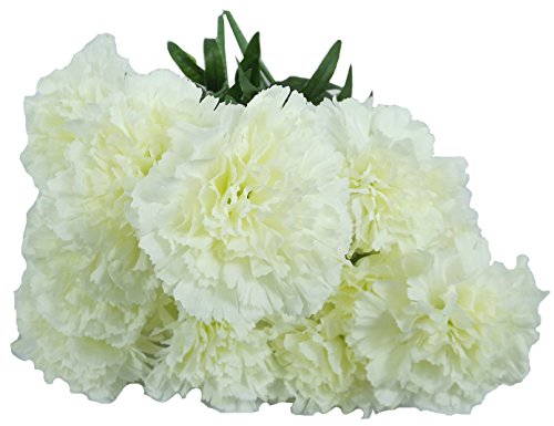 Artificial Flowers, Artificial Carnations White Flowers, (Pack of 2) Wedding Party Vase Decor Bridal Shower Favor Centerpieces (Snap Dragon Wine compare prices)