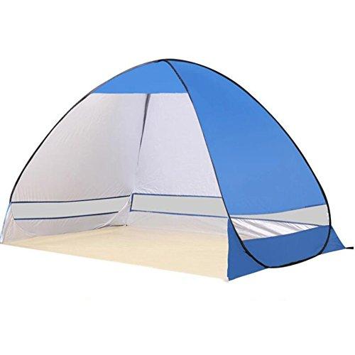 杭咳チームビーチテントCcbetter屋外自動ポップアップビーチテントキャンプサンシェルター屋外インスタント自動ポータブルカバナ3または4人家族のテントシェルターUV保護