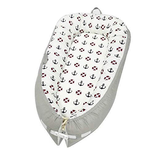 Baby Bionic Bed, Cradle Safety Fence Uterus Portable Baby Sleep Mattress, Cotton Baby Nest for 0-1 Year Old Newborn ()