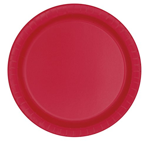 Red Paper Plates, 8ct