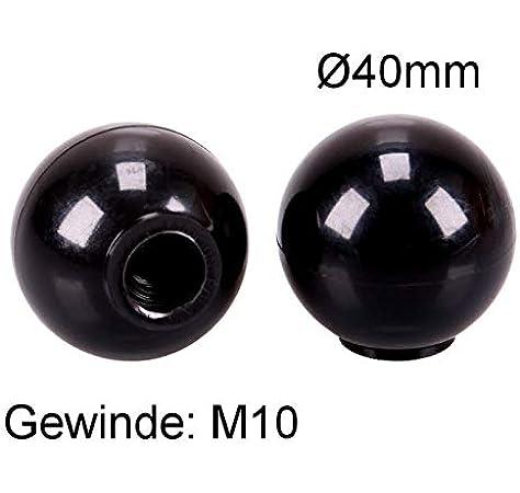 TRUCK DUCK® Universal para cerradura bola mango 40 mm con rosca interior M10 bolas de plástico Cono STI Mango Redondo palanca Interruptor coche Camiones: Amazon.es: Coche y moto
