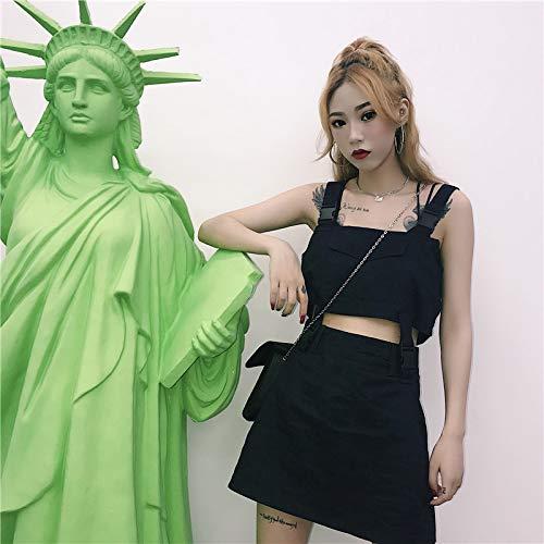 Korean Version Harajuku Handsome Black Strap Buckle Split Suit Loose Wild Slim by MV (Image #2)