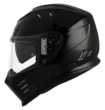 Black Metal Simpson Venom Helmet Size XL