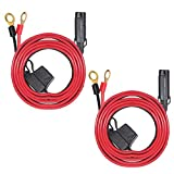 [2 PACK] 6FT Ring Terminal Cable - SAE to O Ring