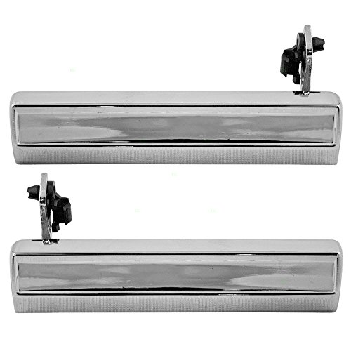 Driver and Passenger Outside Outer Chrome Door Handles Replacement for Buick Chevrolet GMC Pickup Truck 0111713 (Buick Electra Front Door Handle)