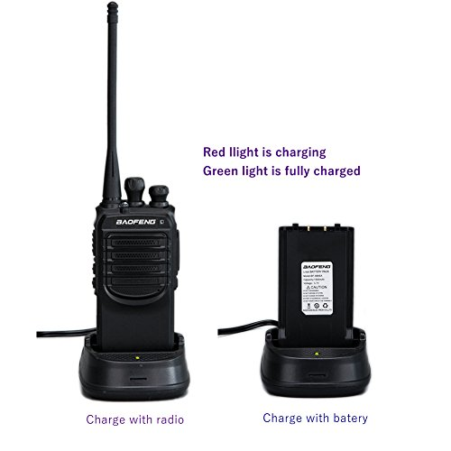 Walkie Talkies with Earpieces Mic and Reachargeble Baofeng BF-888SA (10 Packs) for Adults Trolling Camping Hiking Hunting Travelling 2 Way Radios by BaoFeng (Image #3)