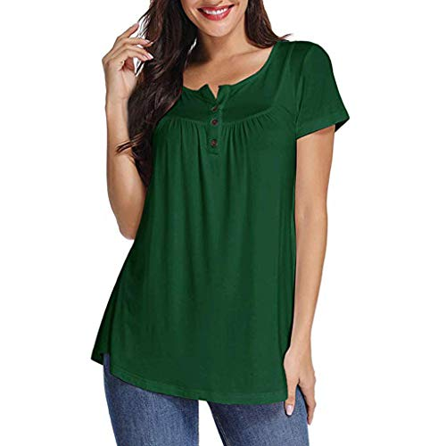 Eaktool Women Summer Shirts for Women Vneck Shirts for Women Workout Shirts for Women Green