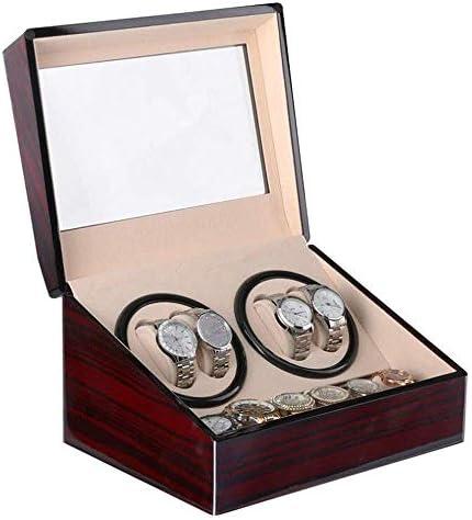 2つの腕時計のための静かなモーター木が付いている自動腕時計の巻取り機は二重収納箱を囲みます