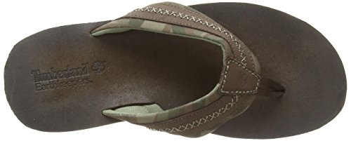 Timberland Hombres Earthkeepers Flip-flop Marrón Oscuro