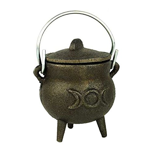 Azuregreen Triple Moon cast iron cauldron 3