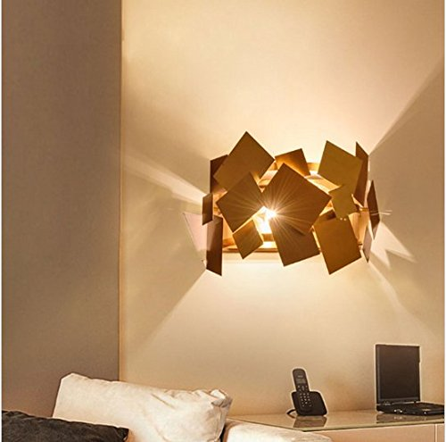GOWE italy design stainless steel gold modern led wall lamp europe aisle corridor lights living room bedroom wall sconce by Gowe