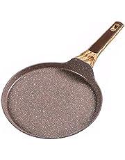 FENXIXI 24cm,26cm Medical Stone Non-Stick Frying Pan Layer-Cake Cake Pancake Crepe Maker Flat Pan Griddle Breakfast Omelet Baking Pans (Size : 24cm)