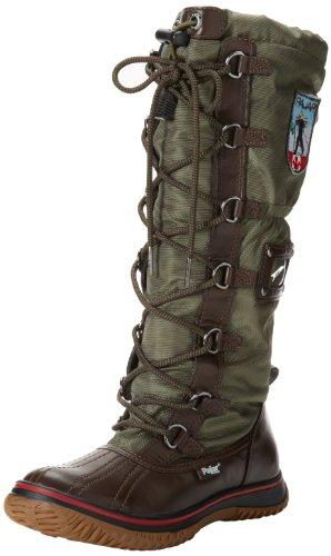 Pajar Women's Grip Boot, Dark Brown/Military, 40 EU/9-9.5 M