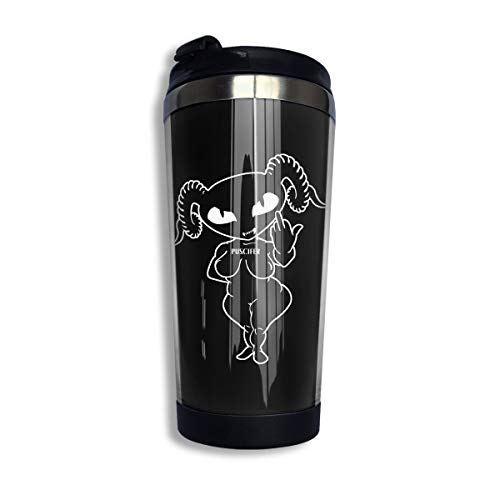 XiteSima Puscifer Coffee Travel Mug,Stainless Steel Insulated Coffee Cup,Spill Proof Flip Lid Insulated Coffee Cup Keeps Hot Or Cold (400 Ml)