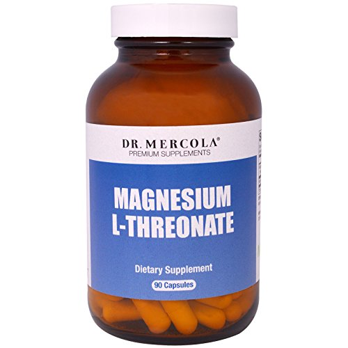 Dr. Mercola Magnesium L-Threonate – 90 Capsules (30 Servings) – 2,000 mg Per Serving – Highly Absorptive & Bioavailable Magnesium Supplement – GMO Free & Formulated Without Laxative Properties