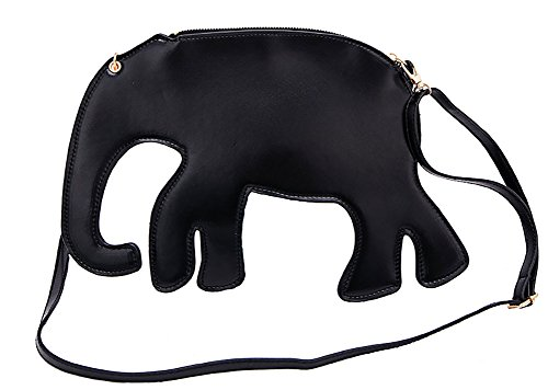 H&N Summer Fashion Hand Bag Various Cute Animal Shape Cross Body Shoulder Bag Special Evening Handbag Black (Fuschia Jeweled Dress)