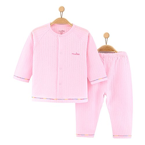 YOUQI Baby Clothes Unisex Boy Girl Clothing Long Sleeve Toddler Infant Pajamas Top Pants Suit
