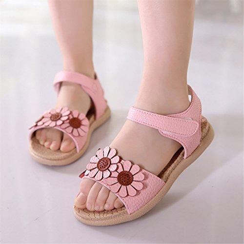 Mignon Douces Fleur Chaussures Plage Princesse Filles Lumino Bébé Bout Chaussures 4 Sandales 5 de Ouvert D'été qq1wFx