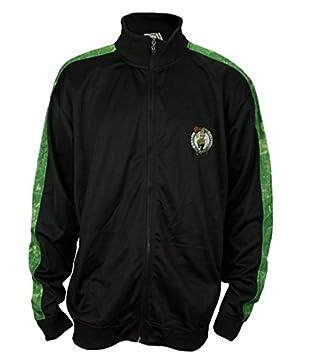 Boston Celtics de la NBA de baloncesto para hombre modelo chaqueta de chándal, negro, Negro: Amazon.es: Deportes y aire libre