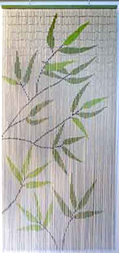 (EVIDECO 650 5500650 Bamboo Leaves Design Beaded Curtain Doorway 90)