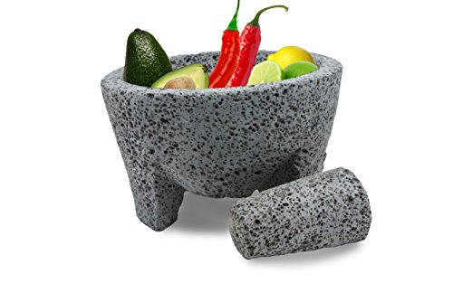 "TLP Molcajete authentic Handmade Mexican Mortar and Pestle 8.5"" 2 Molcajete - Authentic Mexican Mortar and Pestle Bulb Only - No Housing Included. This product comes with a 120 Day Warranty."