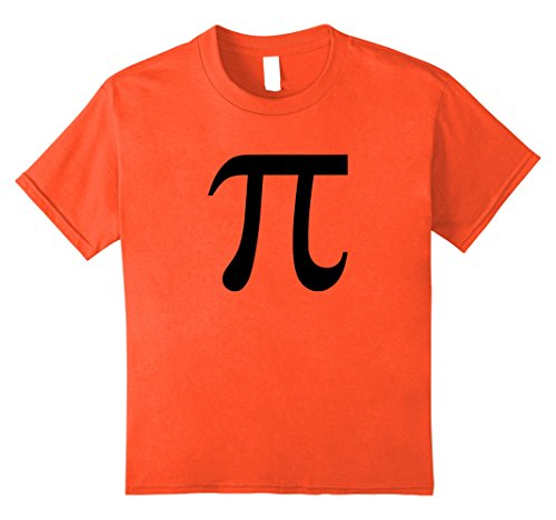 [Kids Pumpkin Pi Math Symbol Halloween Algebra T-Shirt 12 Orange] (Nerd Costume Diy Girl)