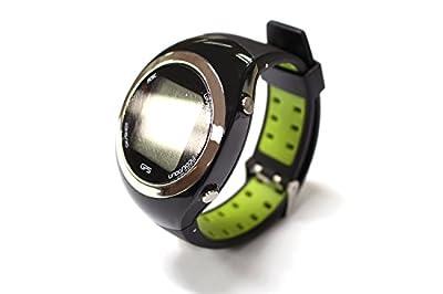 Posma GT2GC GT2 Activity GPS Golf Watch (Green) Set With 1pc Golf Ball Finder Hunter Retriever Glasses + 1pc 14 LED Golf Ball Finder Torch Ultraviolet Flashlight UV Retriever + 1pc Flannel Storage Bag