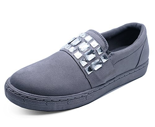 Desconocido Damas Grises Plano Sin Cordones Libélula Color Zapatillas Informal Cómodo Mocasines Zapatillas Número 3-8 - Gris, 42 EU: Amazon.es: Zapatos y ...