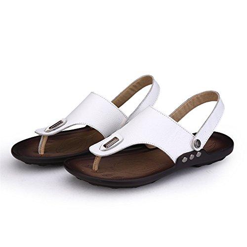 de cm de Chanclas Hombres Blanco Sandalias de Zapatillas Hombre 27 de Playa Sandalias Cuero Playa los Las de 24 de zxdZRaZ