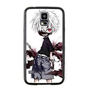 CaseCityLiu - Pattern4 Tokyo Ghoul Jin Muyan Cartoon Design Black Bumper Plastic+TPU Case Cover for Samsung Galaxy S5