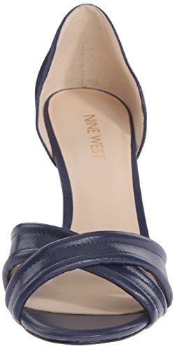 Nine Leather Navy FORTUNATA Leather Womens Fortunata West rxCnHwqZrX
