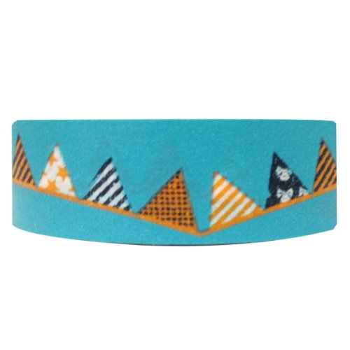 Wrapables Colorful Patterns Washi Masking Tape, Cones -