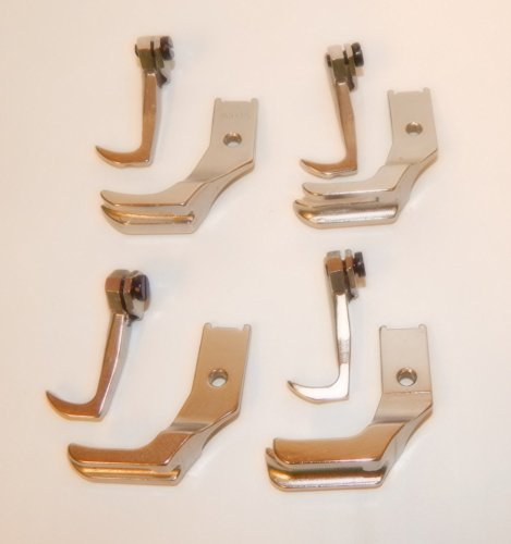 Fits SINGER 111W SEWING MACHINE WELTING PIPING WALKING FOOT SET 4 PAIRS by CP