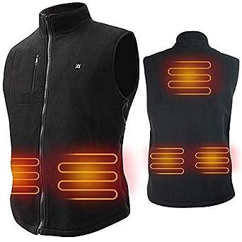 Image result for ARRIS Heated Vest Size Adjustable 7.4V Battery Electric Warm Vest for Hiking Camping