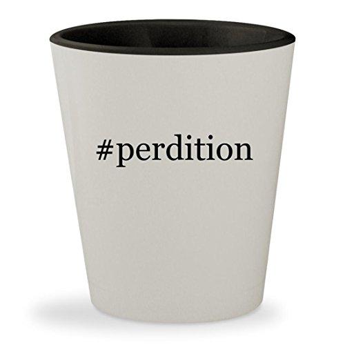 Price comparison product image #perdition - Hashtag White Outer & Black Inner Ceramic 1.5oz Shot Glass