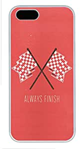 iPhone 5 Cases, Personalized Custom Case for iPhone 5/5S PC White Edge Cover Always Finish