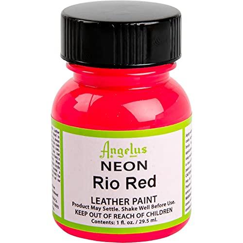 Angelus Pintura acrílica para cuero Neon Rio Red 29.5ml