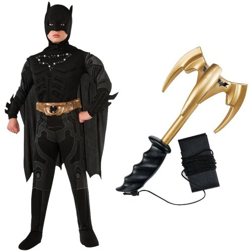 Batman Light-Up Child Costume with Grappling Hook, Large (12-14) (Grappling Black Batman Hook)