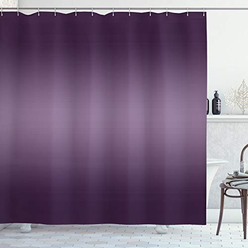 Ambesonne Ombre Shower Curtain, Hollywood Theater Inspired Vintage Digital Purple Colored Modern Design Artwork Print, Cloth Fabric Bathroom Decor Set with Hooks, 84