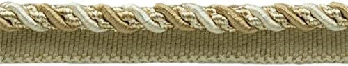 Light Beige D/ÉCOPRO 27 Yard Value Pack of Medium 4//16 inch Ivory 4001 25 Meters // 81 Ft. Noblesse Collection Lip Cord Style# 0416H Color: White Sands