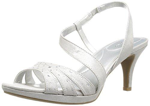 - Bandolino Women's KADSHE Heeled Sandal, Silver, 9.5 M US