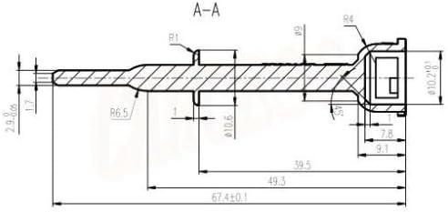 Caddy kit de r/éparation de verrouillage de porte avant gauche c/ôt/é passager
