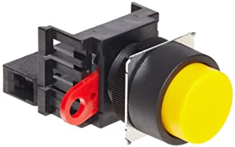 Omron A22-TG-10M Projection Type Pushbutton and Switch, Screw Terminal, IP65 Oil-Resistant, Non-Lighted, Momentary Operation, Round, Green, Single Pole Single Throw Normally Open Contacts