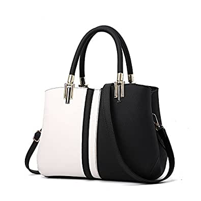 Nevenka Women Bags Handbag Shoulder Bags PU Leather Fashion Crossbody Purse Totes (BLACK)