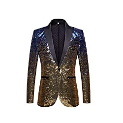 Gradual Change Color Sequins Jacket