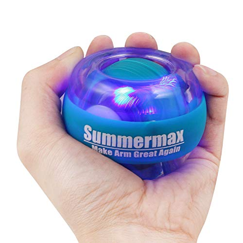 Summermax Wrist Power Gyroscopic Ball,Wrist Strengthener and Forearm Exerciser for Stronger Arm Fingers Wrist Bones and Muscle (Sky Blue)