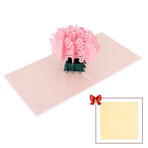 Blossom Card (Greeting Cards, Cherry Blossom Pop Up 3D Cards for Birthday / Anniversary / Holiday / Wedding)