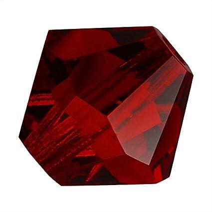 50 Ruby Red Bicone Czech Glass Beads 6MM